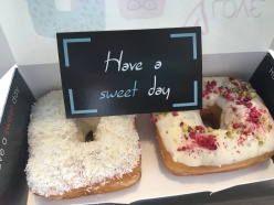 Square filled donuts - yum!