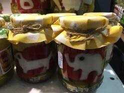 Animals in vegetables in jars!