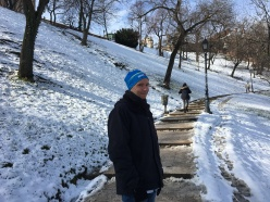 Slushy walk up to castle hill